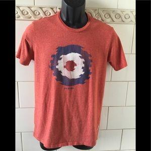 Ben Sherman Red Heathered Logo T-shirt Tee sz. S